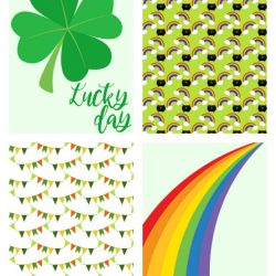 St. Patrick's day journal cards for scrapbooking