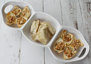 Turkey Wonton Cups for Chinese New Year