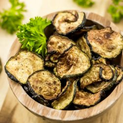 air fryer Cajun zucchini chips