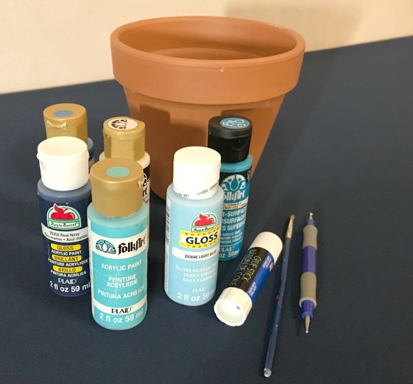 painted flower pot craft