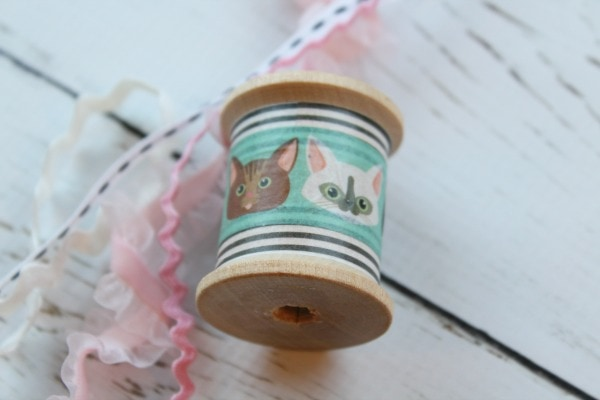 easy cat toy with washi tape