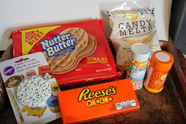 ingredients for Nutter Butter Chick Cookies
