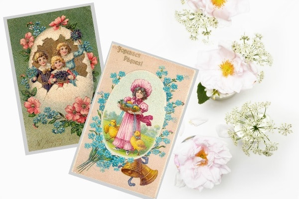 graphic regarding Free Printable Vintage Images called No cost Printable Common Easter Pocket Playing cards - Daily life is Sweeter