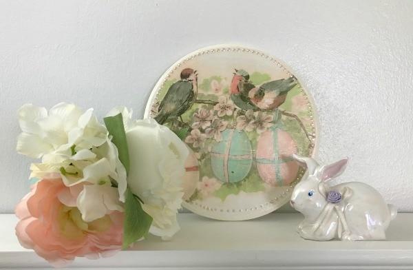 Vintage Easter Wood Plaque Craft