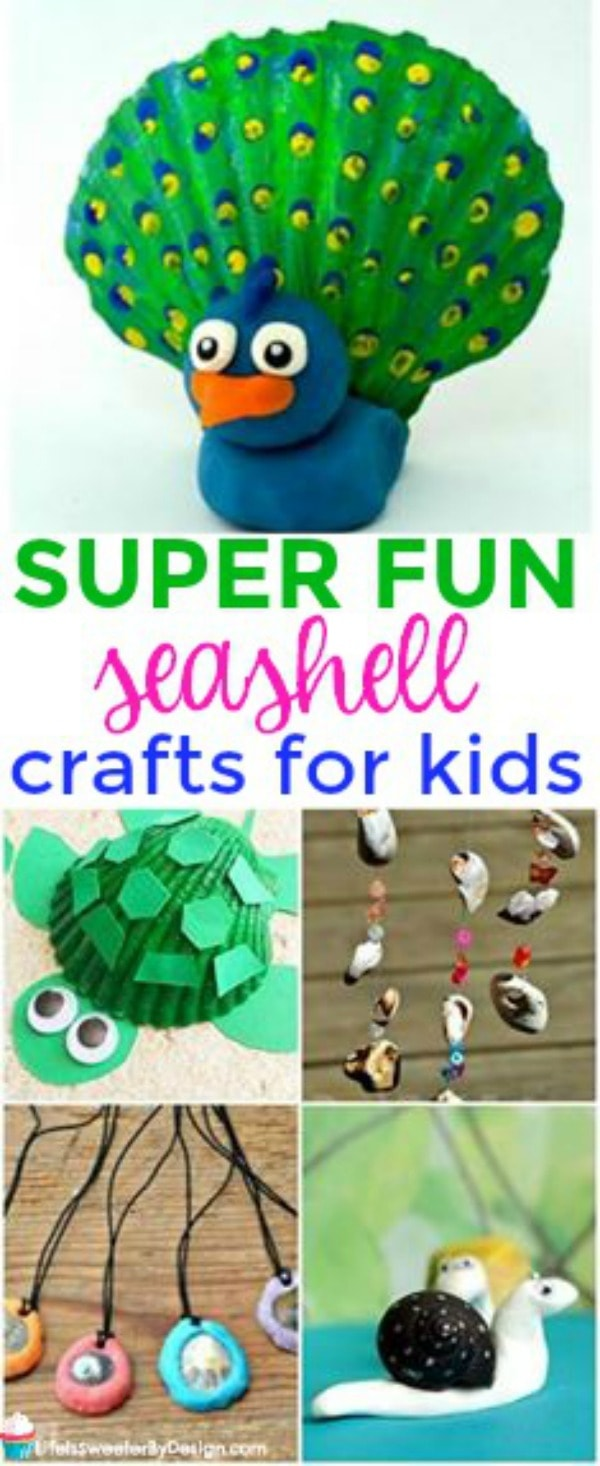 Easy Seashell Crafts For Kids Life Is Sweeter By Design