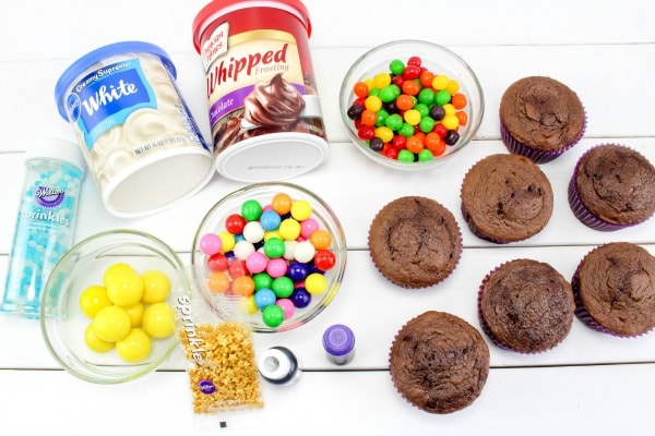supplies needed for galaxy cupcakes