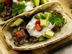 Weight Watchers Slow Cooker Steak and Bean Soft Tacos