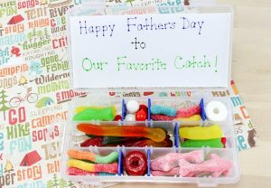 Candy Tackle Box Gift for Dad