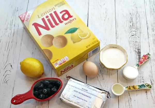 ingredients for lemon cheesecake treats