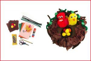 Baby Bird Nest Kids Craft