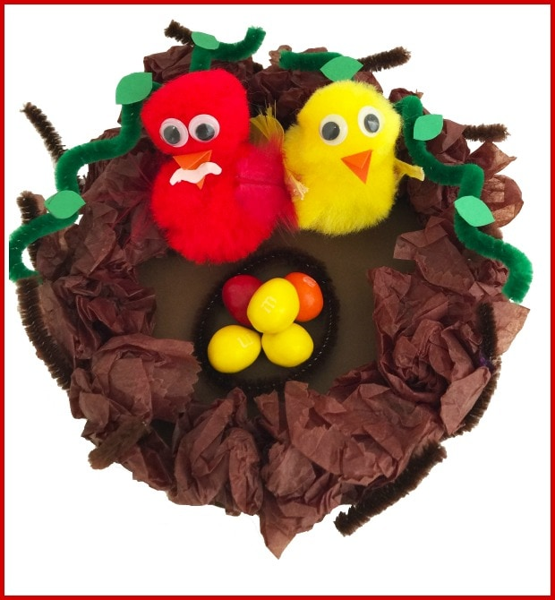 baby bird nest kids craft