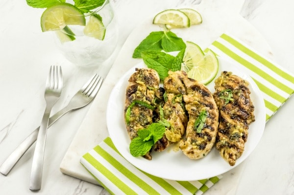 Weight Watchers grilled mojito BBQ chicken
