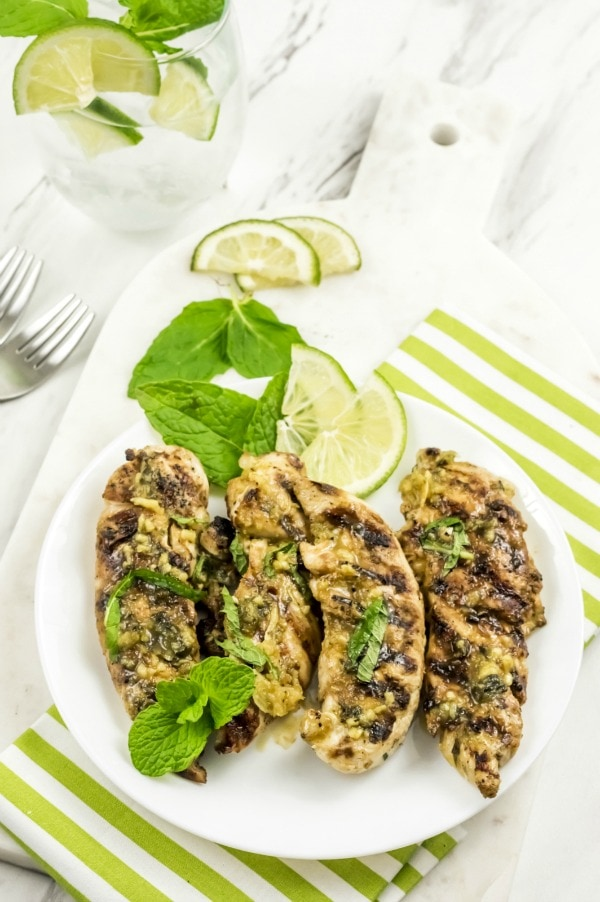grilled chicken with mojito marinade