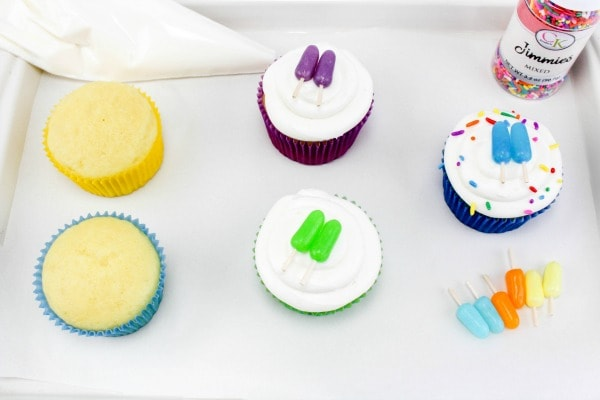 popsicle cupcakes