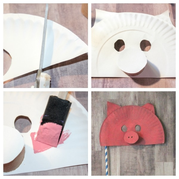 how to make a paper plate pig mask