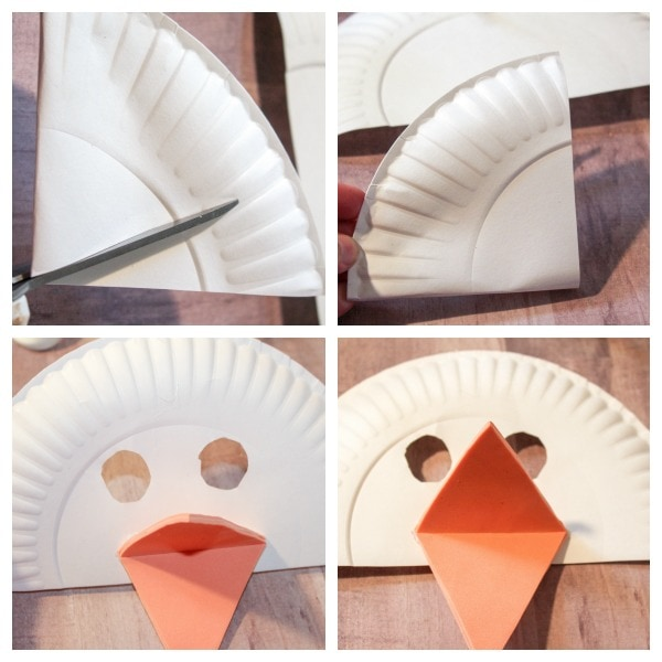 how to make a paper plate duck mask