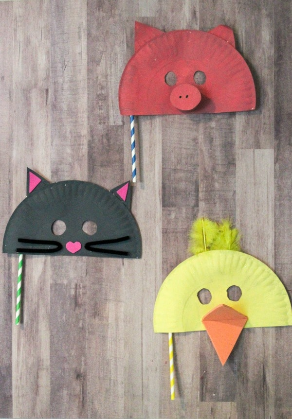 easy paper plate mask craft for kids