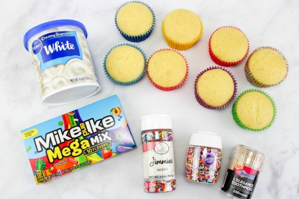 ingredients needed for popsicle cupcakes