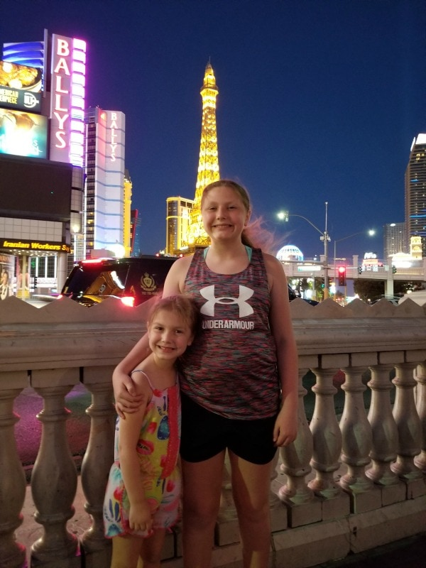 Vegas vacation for a family with kids