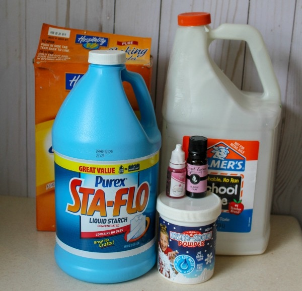ingredients needed for bubble gum slime