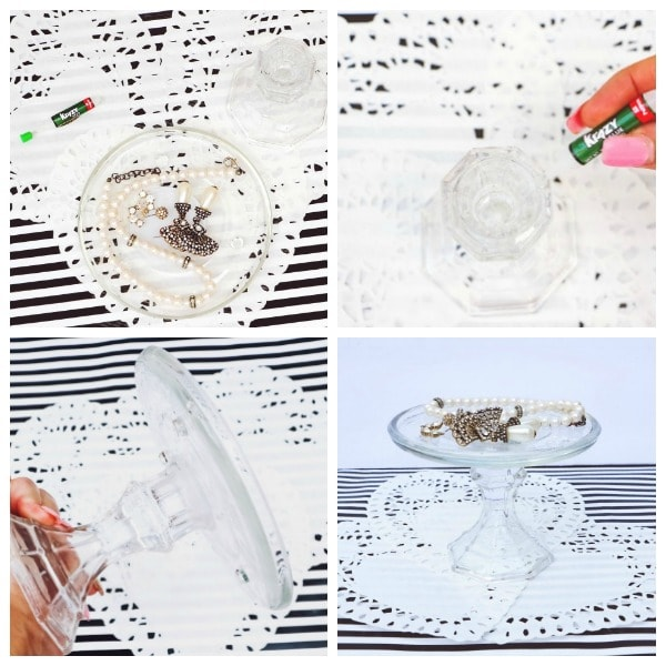 how to make a DIY glass jewelry tray