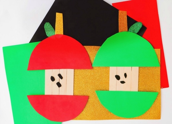 Popsicle Stick Apple Craft For Kids Life Is Sweeter By Design