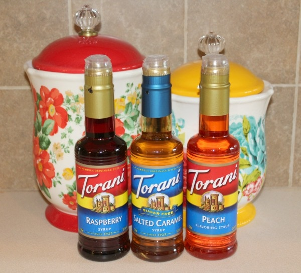 making a drink with Torani syrup