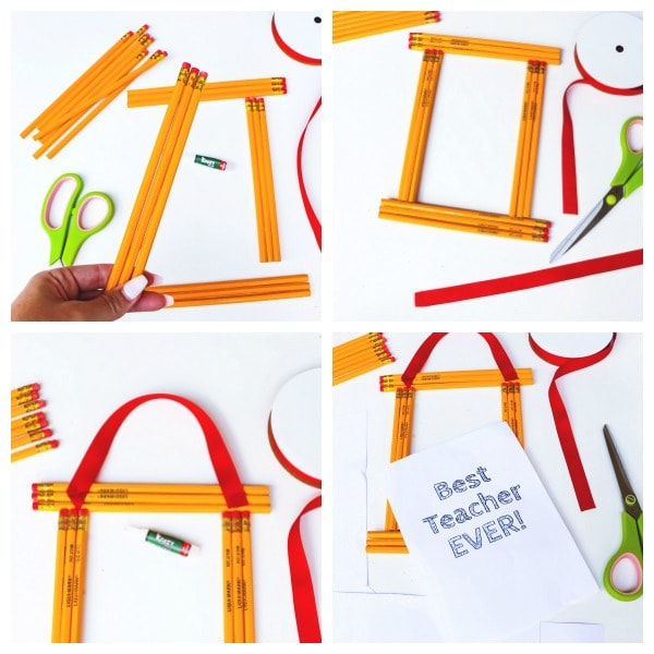 how to make a pencil frame craft