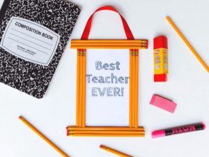 Back to School Pencil Frame Craft