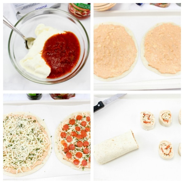 how to make tortilla pizza pinwheels