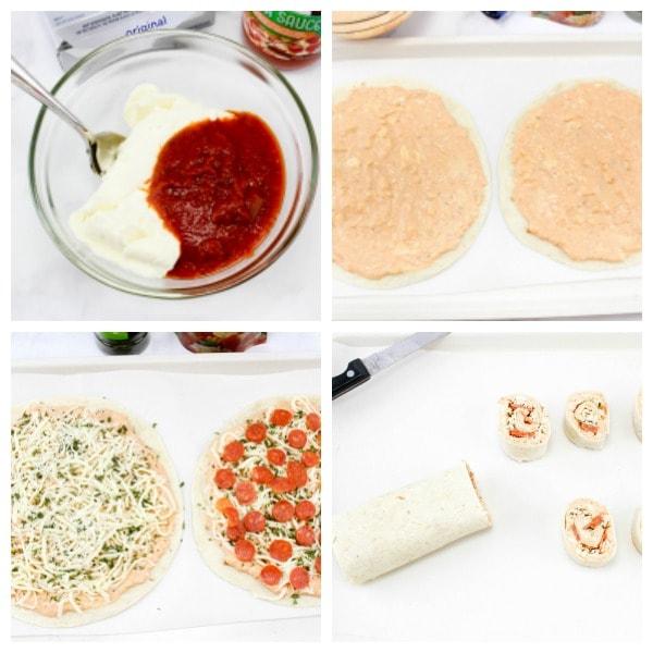 how to make tortilla pizza pinwheels