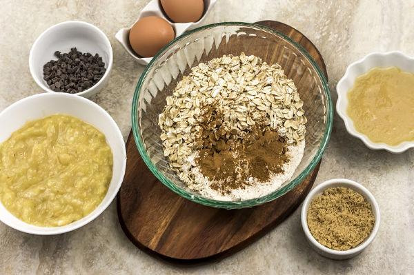 ingredients for Weight Watchers banana bread