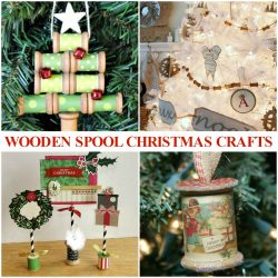 wooden spool craft ideas for Christmas