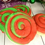 easy red and green swirl cookies