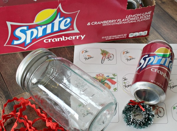 soda can in a jar gift