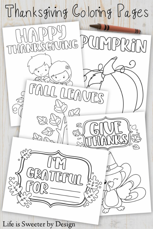 free printable Thanksgiving color sheets