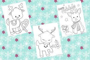 free printable reindeer color pages