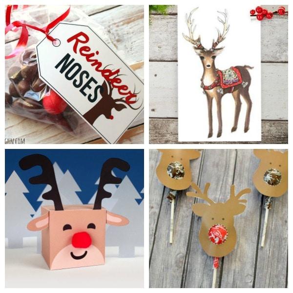 reindeer printables tags, treats, art