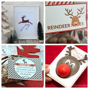 free printable reindeer crafts