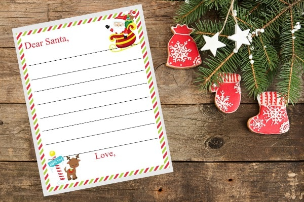 Santa's address and printable letter to Santa