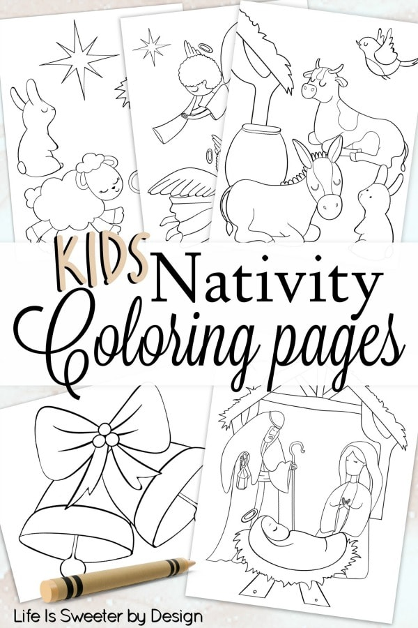 Nativity Color Pages Life Is Sweeter By Design