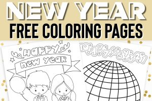 free printable New Year's color pages