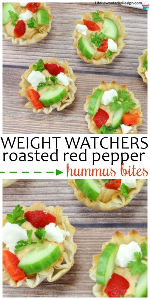 Roasted Red Pepper Hummus Bites