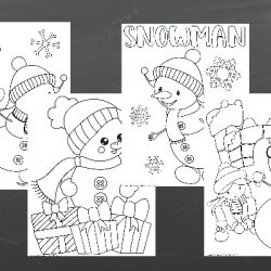 fun snowmen color sheets