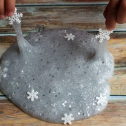 Sparkly Snowflake Slime