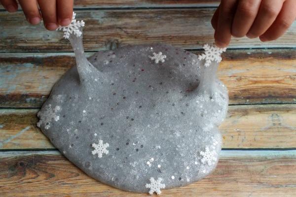 Sparkly Snowflake Slime