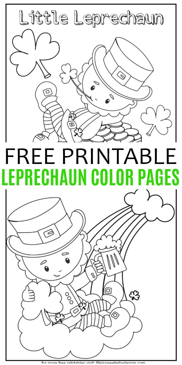 Leprechaun Color Pages Life Is Sweeter By Design