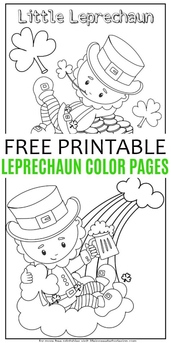 Leprechaun Color Pages