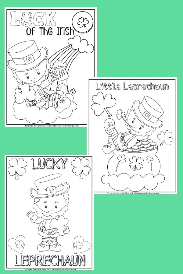 free printable Leprechaun Color Pages