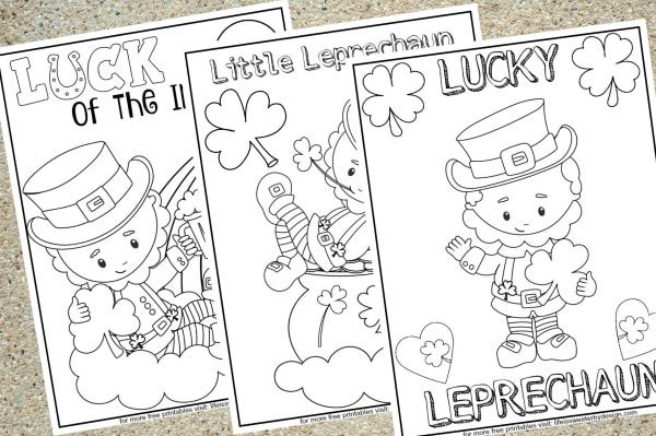 free printable Leprechaun coloring pages
